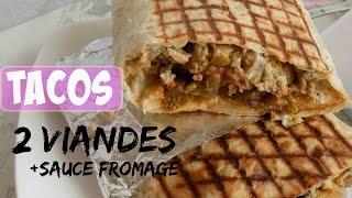 ✰Recette Meilleur Tacos Lyonnais 2 Viandes + Sauce Fromage✰