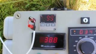 getlinkyoutube.com-Imkerei, der Sonnenwachsschmelzer bringt 100°C