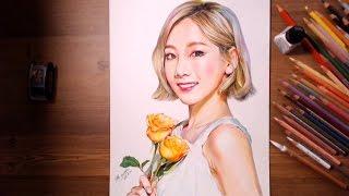 getlinkyoutube.com-TaeYeon (SNSD / Girl's Generation) - Speed drawing   drawholic