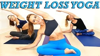 getlinkyoutube.com-Yoga Weight Loss Challenge! 20 Minute Fat Burning Yoga Workout Beginners & Intermediate