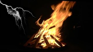 getlinkyoutube.com-Nighttime Campfire with Thunder, Rain, Wind and Relaxing Night Sounds (Study, Sleep and Relax)