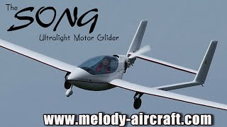 getlinkyoutube.com-Song ultralight aircraft motor glider from Melody Aircraft