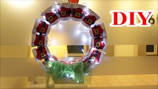 getlinkyoutube.com-DIY Crafts Ideas: DIY Christmas Lantern Wreath out of Recycling Plastic Cups | Best out of Waste