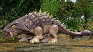 getlinkyoutube.com-LEGO Jurassic World - Jurassic Park 3 Hub 100% Guide #2 - Ankylosaurus Territory & Isla Sorna Aviary