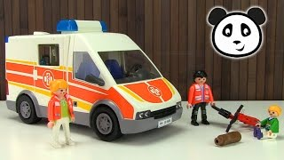 getlinkyoutube.com-Playmobil Krankenwagen - Spielzeug ausgepackt & angespielt - Pandido TV