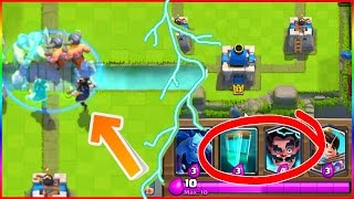 getlinkyoutube.com-NEW CLONE SPELL & ELECTRO WIZARD LEAKED GAMEPLAY in Clash Royale!!!