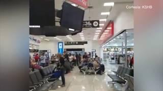 Hombre de Kansas grabó el momento del terremoto en Aeropuerto de México