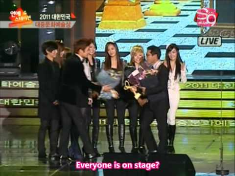 [2011.11.22] ETN Entertainment News 2nd Korean Popular Culture Art Awards - SNSD Cut (en)