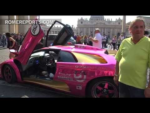 Can I park my Lamborghini by the Vatican? Car owners celebrate 50th anniversary in Rome