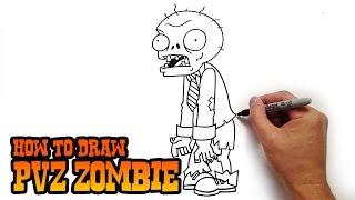 getlinkyoutube.com-How to Draw a Zombie from Plants vs Zombies