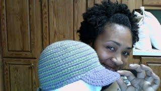 getlinkyoutube.com-Tutorial Tuesday# 27 Striped Brimmed Cap (LATE)