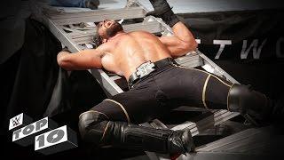 getlinkyoutube.com-Superstars smashed through ladders: WWE Top 10