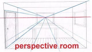 getlinkyoutube.com-Linear Perspective Drawing Lesson 5/6 - Drawing a Room In Perspective Tutorial - 1 Point Perspective