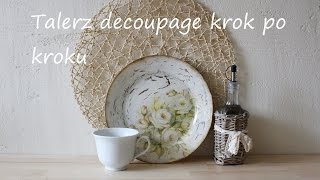 getlinkyoutube.com-Talerz Decoupage krok po kroku DIY