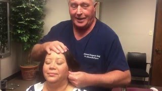getlinkyoutube.com-Huge Crack Chiropractic Adjustment of Deaf Patient's Ears At Advanced Chiropractic Relief