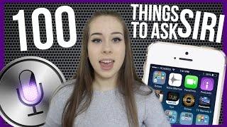 getlinkyoutube.com-100 THINGS TO ASK SIRI?! | Nicole Renee