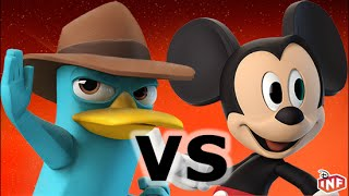 getlinkyoutube.com-Agent P vs Mickey Mouse sarlacc pit arena fight Disney Infinity toy box