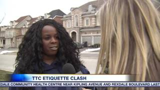 getlinkyoutube.com-Video: Argument over TTC etiquette caught on camera