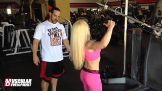getlinkyoutube.com-IFBB Pro Figure Bojana Vasiljevic | Delt training