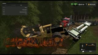 Fs17 Cat ClamBunk AutoLoad Skidder
