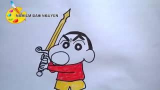 getlinkyoutube.com-Vẽ Shin cậu bé bút chì /How to Draw Crayon Shinchan