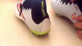 getlinkyoutube.com-Unboxing - Aliexpress #25 Shoes soccer football nike superfly 4 scarpe da calcio white bianche