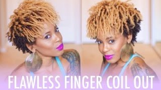 getlinkyoutube.com-Perfect Finger Coil Out | Natural Hair