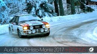 getlinkyoutube.com-Audi History AvD Histo Monte: Audi quattro + Lancia delta + Rally Cars