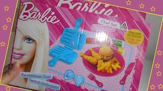 getlinkyoutube.com-العاب صلصال للاطفال - لعبة باربي لتشكيل البرجر و الدجاج و البطاطس من معجون الصلصال