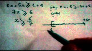 حل المتراجحات \ المتفاوتات مع الشرح