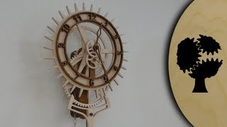 getlinkyoutube.com-Korona - Holzuhr (Wooden Clock)