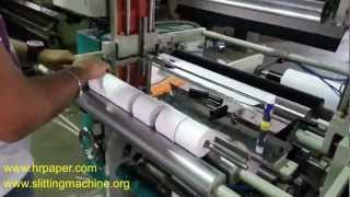 getlinkyoutube.com-Tapless Small Roll Making / ATM Roll Mfg Machine