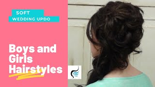getlinkyoutube.com-Cascading Side Updo for Long Hair Prom or Weddings Hairstyles