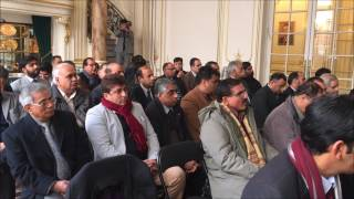 Barrister Amjad Malik Ch,.BoD, OPF, addressed Pakistani Community in Paris today 27th, January, 2017