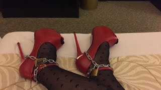 getlinkyoutube.com-Crossdressing - Locked in High heels
