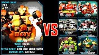 getlinkyoutube.com-Real Steel WRB Fat Boy SANTA VS UW I ROBOTS Series of fights NEW ROBOT (Живая Сталь)