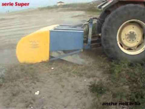 Macchina Pulizia Spiaggia - beachcleaner - clean beach machine - Serie Super