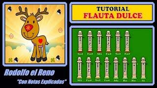 """getlinkyoutube.com-Rodolfo el Reno en Flauta """"Con Notas Explicadas"""""""
