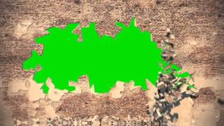 getlinkyoutube.com-Green Screen Intro Wall Collapse Destruction HD - Footage PixelBoom