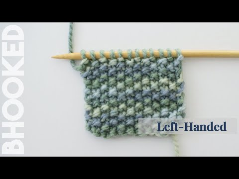 How to Knit the Seed Stitch Left Handed
