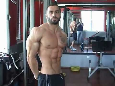 Lazar Angelov Training for Arms and ABS