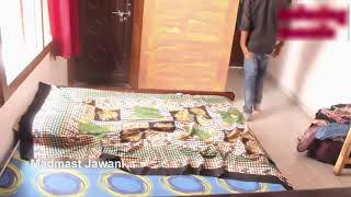 indian lovers romance in bed room