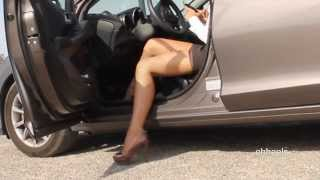 getlinkyoutube.com-Oh, what a hoot out of the car in high heels.