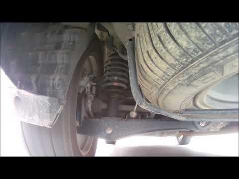 Работа задней подвески кроссовера Mitsubishi Outlander 3