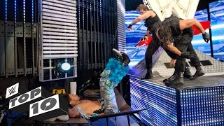 WWE Top 10 movimientos finales en el stage