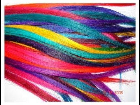 Como fazer mechas coloridas no cabelo ?