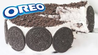 OREO CAKE ICE CREAM Recipe Eggless Cookies & Cream 오레오 아이스크림 케익 만들기 - 한글 자막