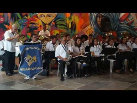 Entrega de Instrumentos a Participantes do Projeto Bandas SC