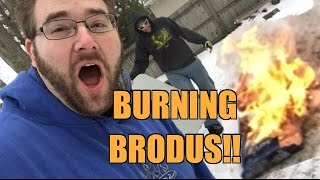 getlinkyoutube.com-DESTROYING Brodus Clay Figures w/FIRE! Fireworks!! Bow and Arrows! AND SMASHING!!!
