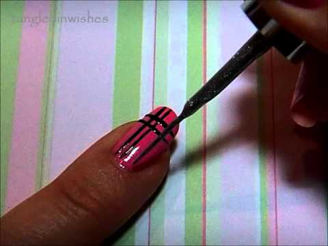 Nail Art For Beginners:  Easy Plaid Design
